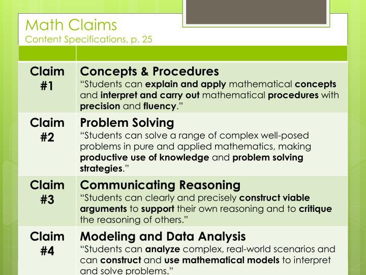 Math Claims