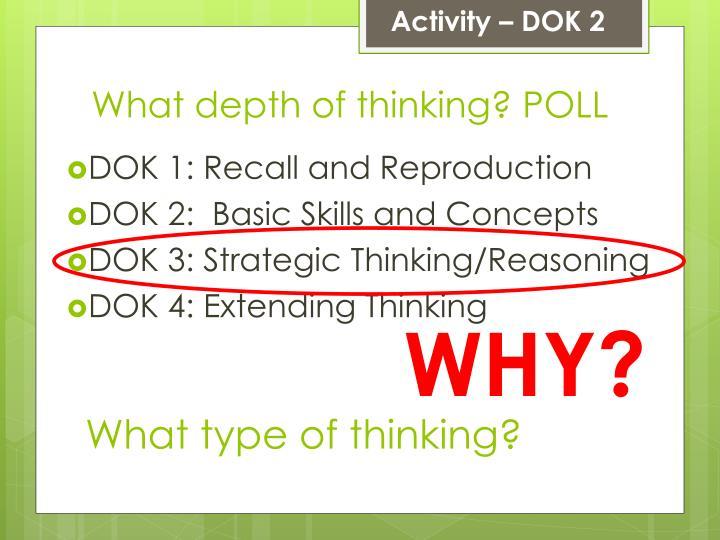 Activity – DOK 2