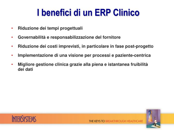 I benefici di un erp clinico