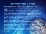 interview with a witch