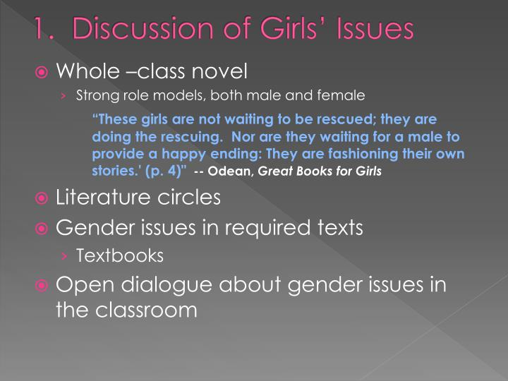1.  Discussion of Girls' Issues