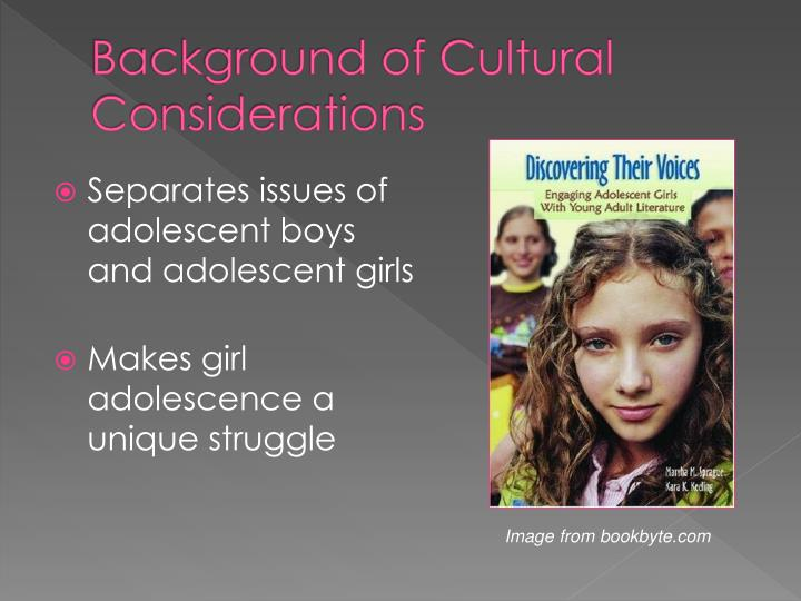 Background of cultural considerations