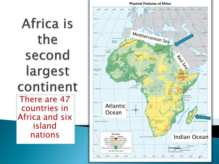 PPT Africa Is The Second Largest Continent PowerPoint - What is the largest continent
