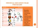 physical eduation year programe