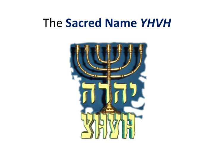 the sacred name yhvh n.