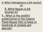 4 what hemispheres is ga located in
