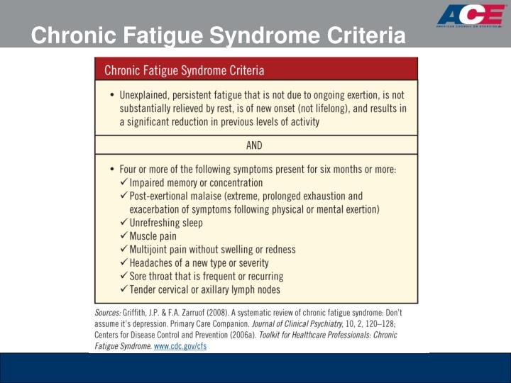 Chronic Fatigue Syndrome Criteria