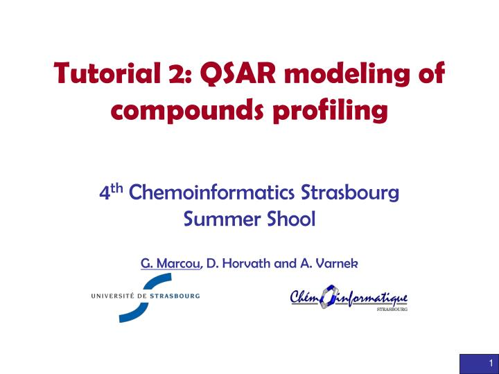 tutorial 2 qsar modeling of compounds profiling n.