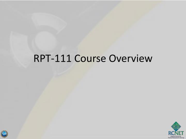 rpt 111 course overview n.
