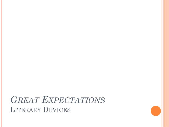 great expectations literary devices n.