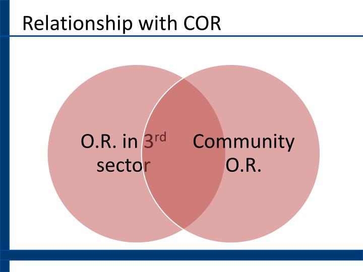 Relationship with COR
