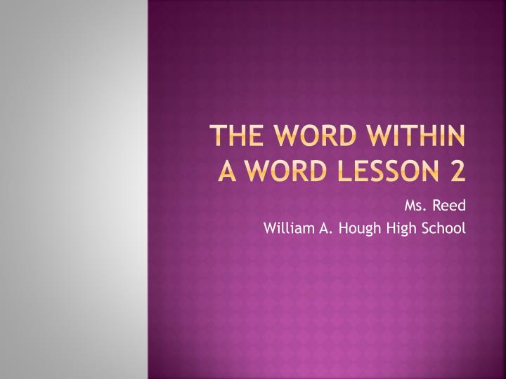 the word within a word lesson 2 n.