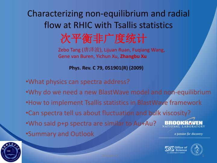 Characterizing non equilibrium and radial flow at rhic with tsallis statistics