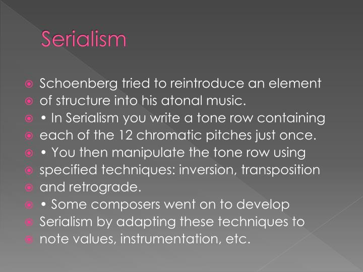 Serialism