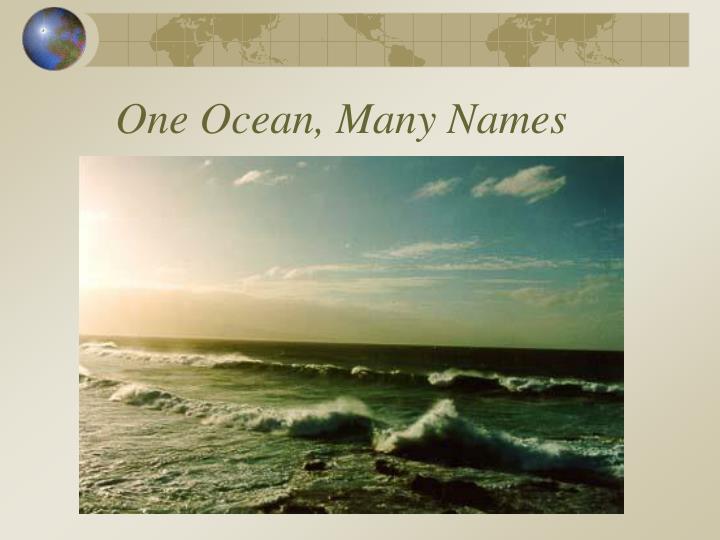 One Ocean, Many Names