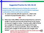 suggested practice for sol aii 10