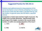 suggested practice for sol aii 111