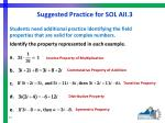 suggested practice for sol aii 3