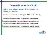 suggested practice for sol aii 7f