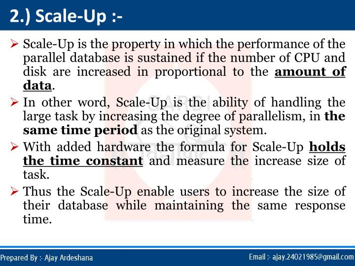 2.) Scale-Up :-