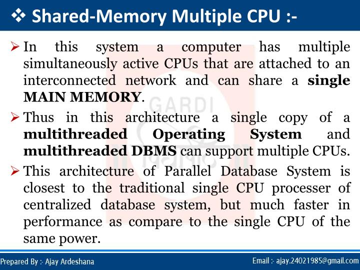 Shared-Memory Multiple CPU :-