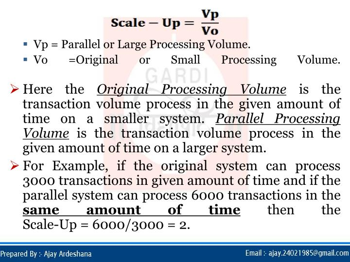 Vp = Parallel or Large Processing Volume.