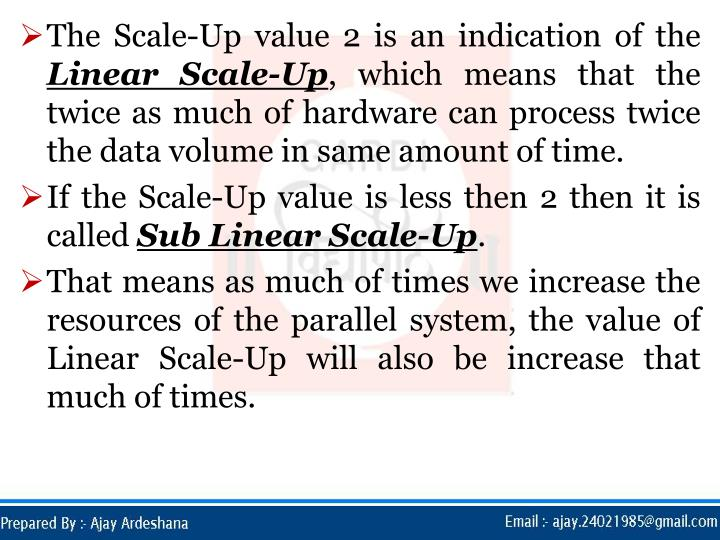 The Scale-Up value 2 is an indication of the