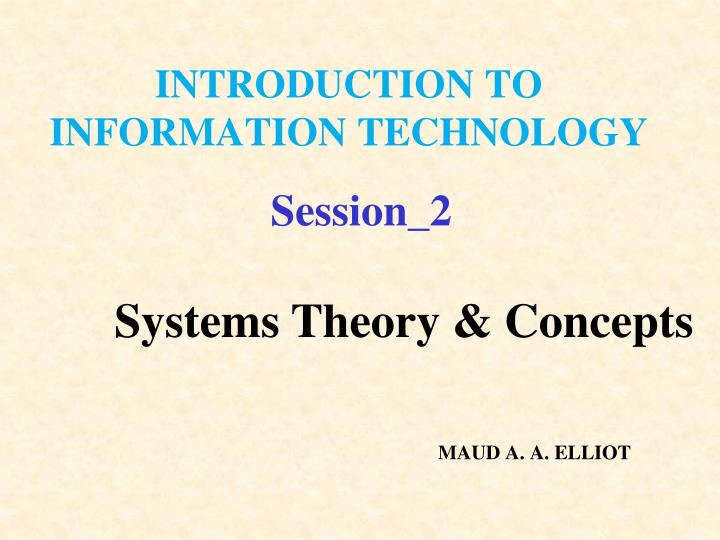 introduction to information technology n.