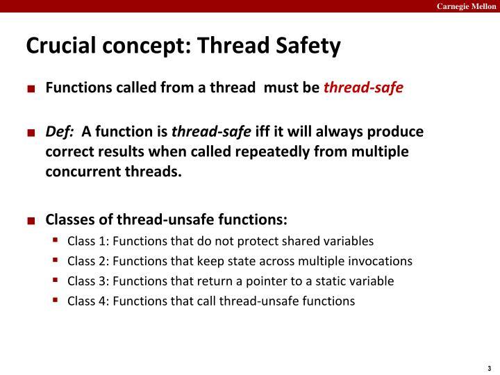 Crucial concept thread safety