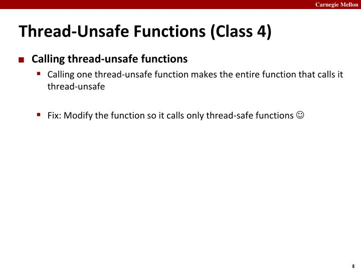 Thread-Unsafe