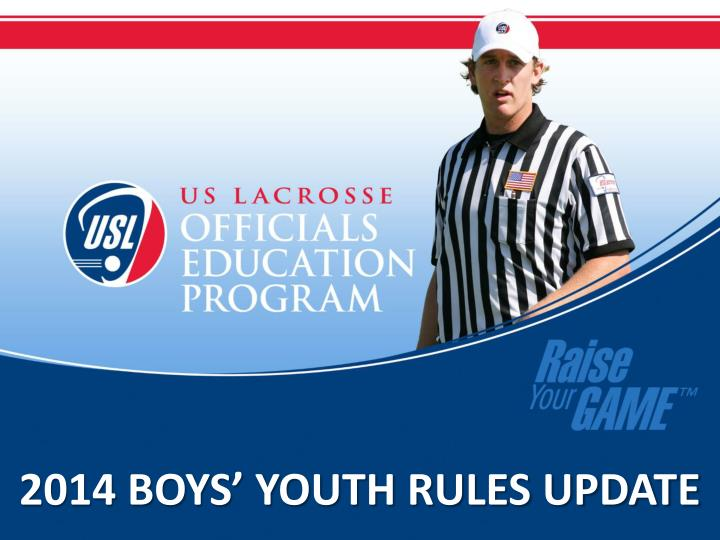 2014 boys youth rules update