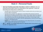 rule 5 personal fouls1