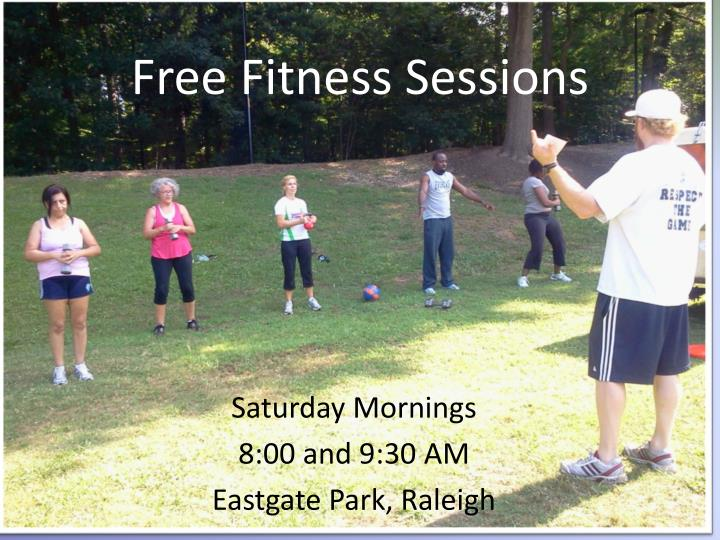 free fitness sessions n.