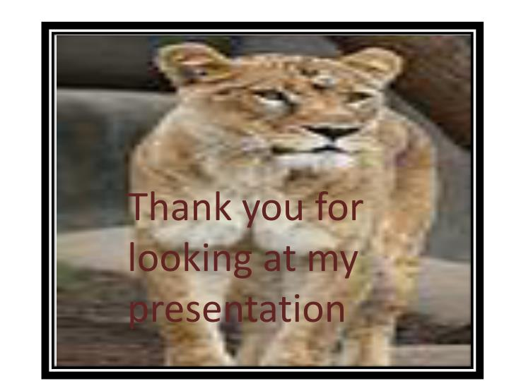 Thank you for looking at my presentation