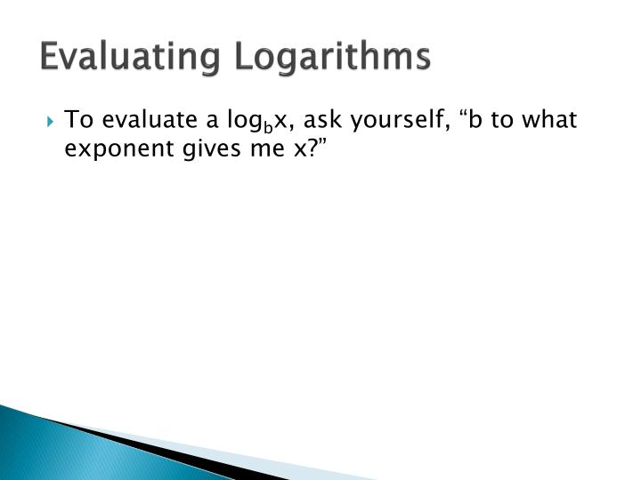 Evaluating Logarithms