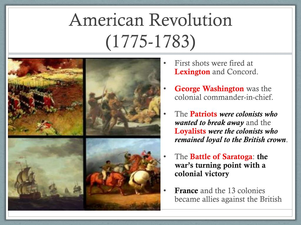 which battle was the turning point of the american revolution