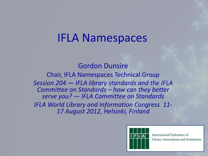 ifla namespaces n.