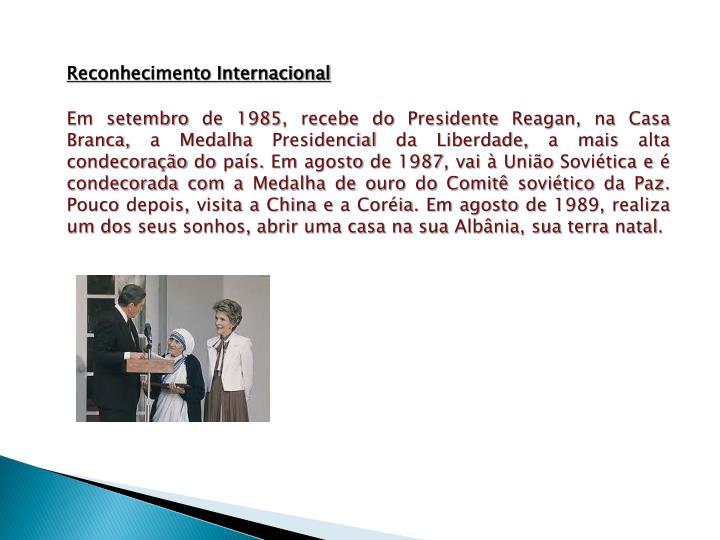 Reconhecimento Internacional