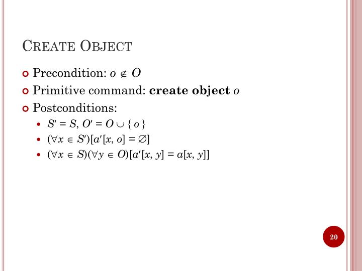 Create Object