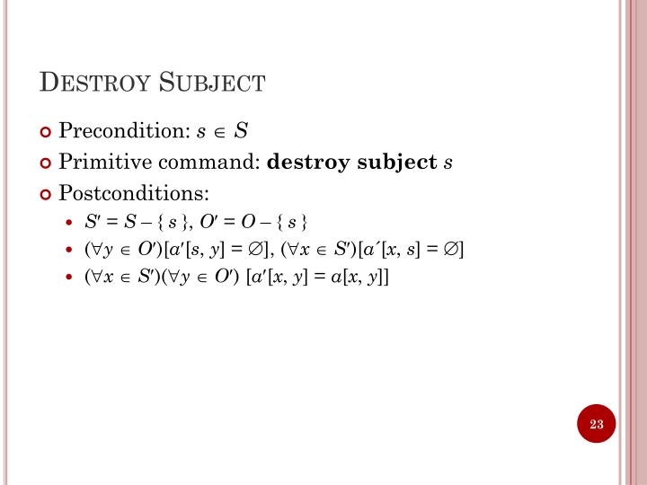 Destroy Subject