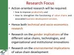 research focus
