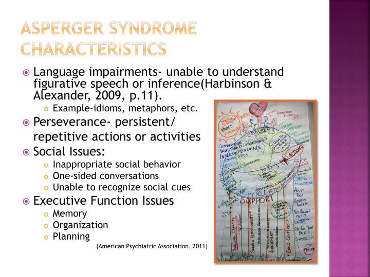 Asperger syndrome characteristics