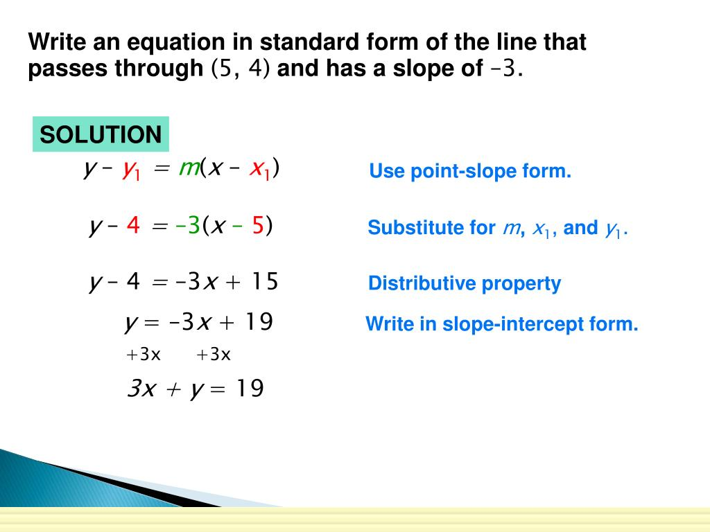 slope intercept form y=4  PPT - Chapter 14 Reivew PowerPoint Presentation, free ...