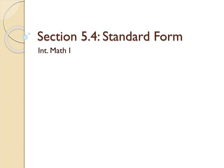 Ppt Section 54 Standard Form Powerpoint Presentation Id2353802