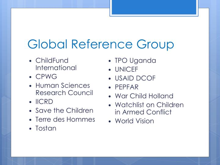 Global reference group