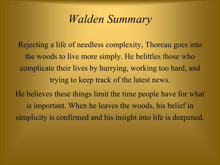 Walden Summary