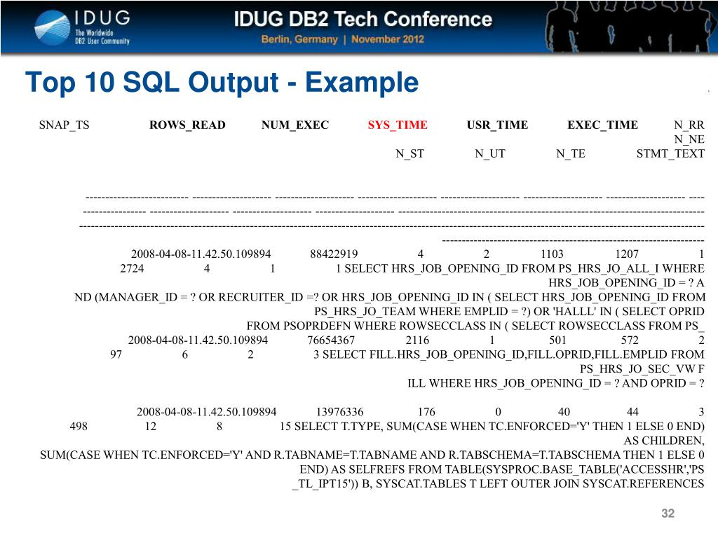 PPT - Tuning Tips for DB2 LUW in an OLTP Environment PowerPoint