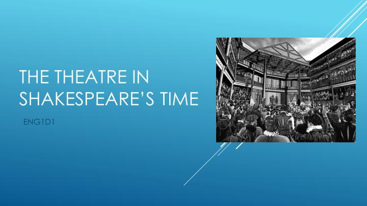 The theatre in shakespeare s time