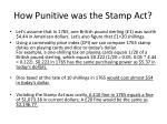 how punitive was the stamp act