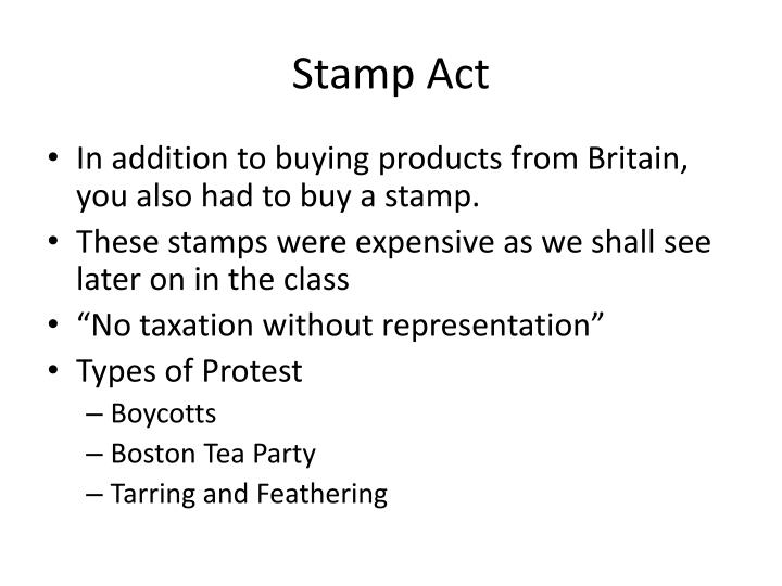 stamp act n.